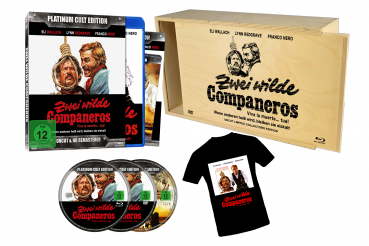 Zwei wilde Companeros - Limitiert auf 333 Stück - Platinum Cult Edition - Uncut & HD Remastered (+ DVD) (+ T-Shirt) in Holzbox [Blu-ray]